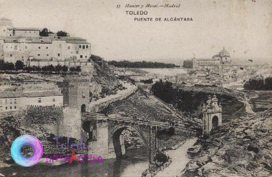 Toledo. Puente de Alcántara. Hauser y Menet.