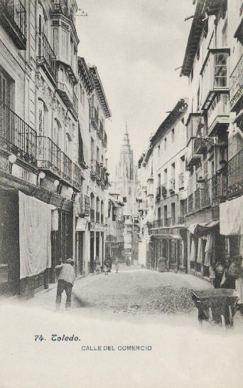 Calle del Comercio. Fototipia Lacoste (Madrid)