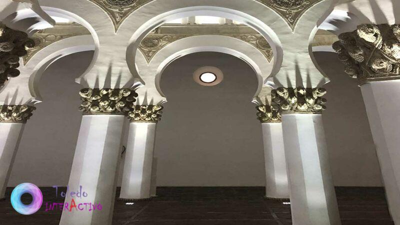 Interior de Sta María la Blanca en Toledo